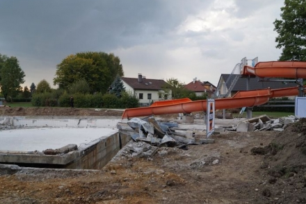 Baustelle Freibad Andorf