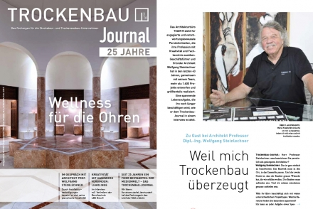 Interview Architekt Steinlechner Trockenbau Journal 3 2016
